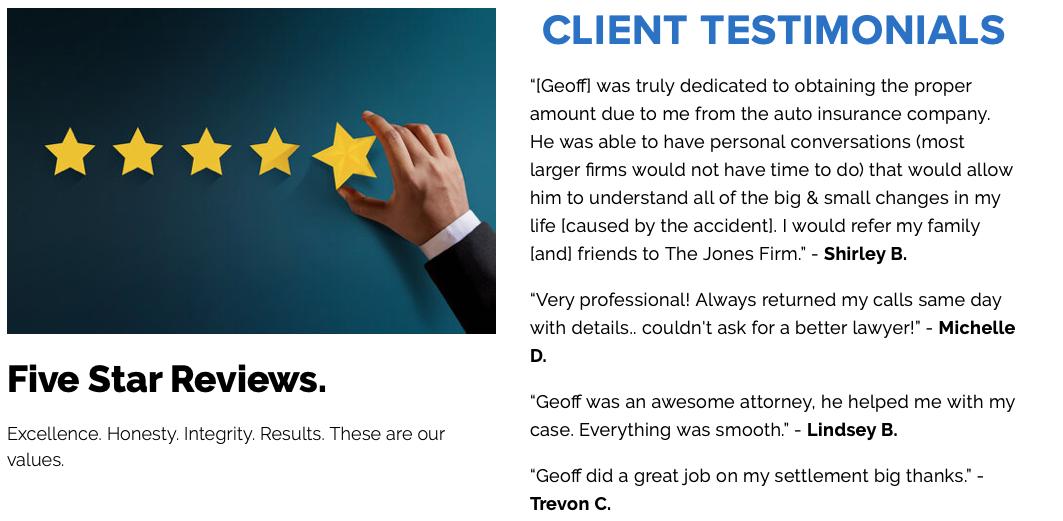 5 Star Reviews - Client Testimonials
